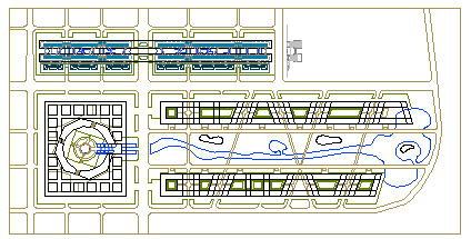 Layout plan design drawing of Industrial area