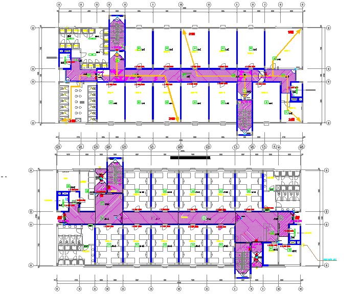 Layout plan of Hostel project