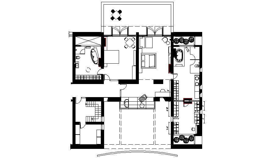 Download Free House Plan Drawing In AutoCAD File