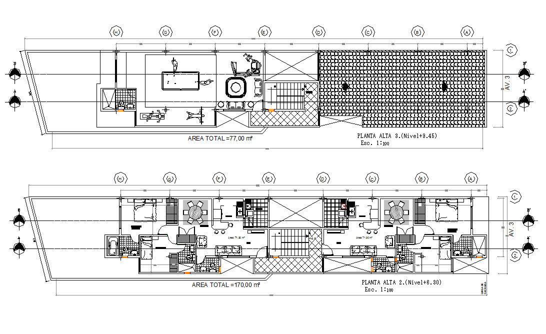 Layout plan of a  house dwg file
