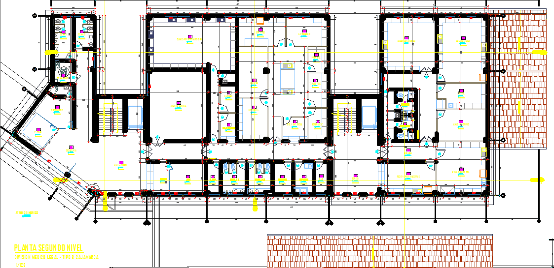 Layout plan of a building dwg file