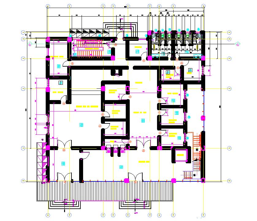 Layout plan of bank dwg file
