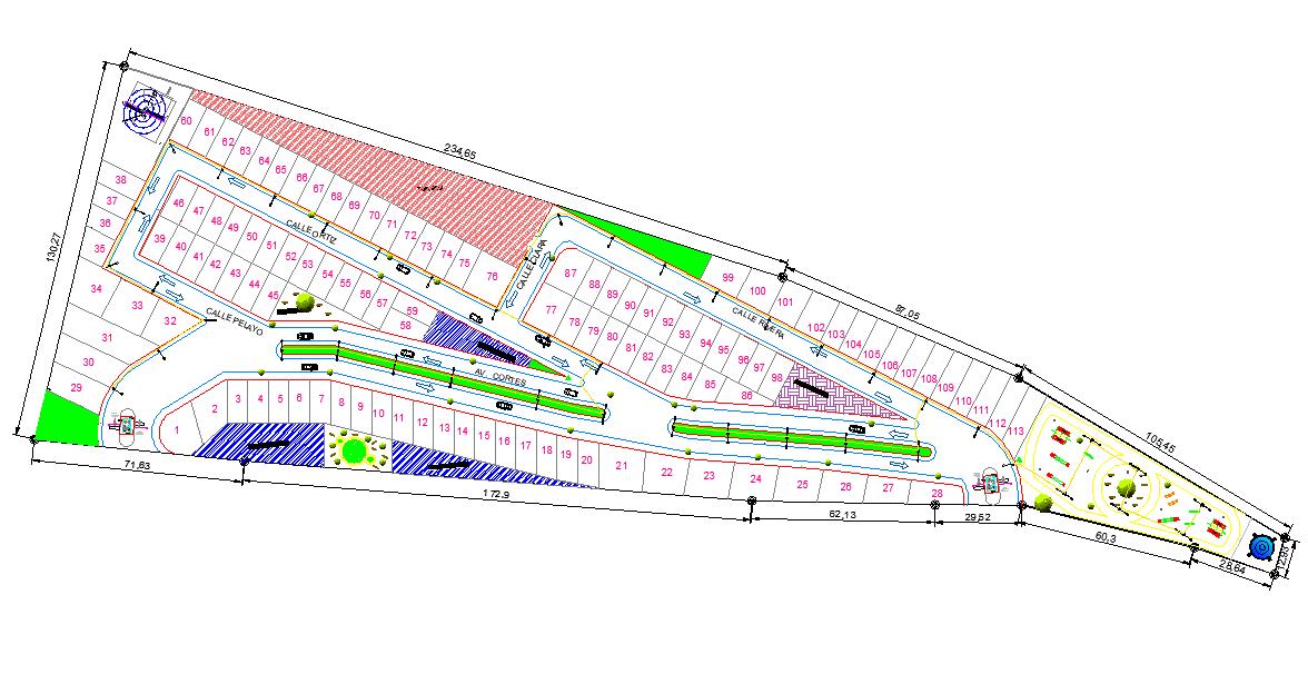 Layout plot building plan dwg file