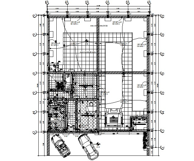 Layout plot planning detail dwg file