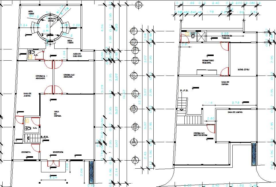 Legal office layout plan dwg file