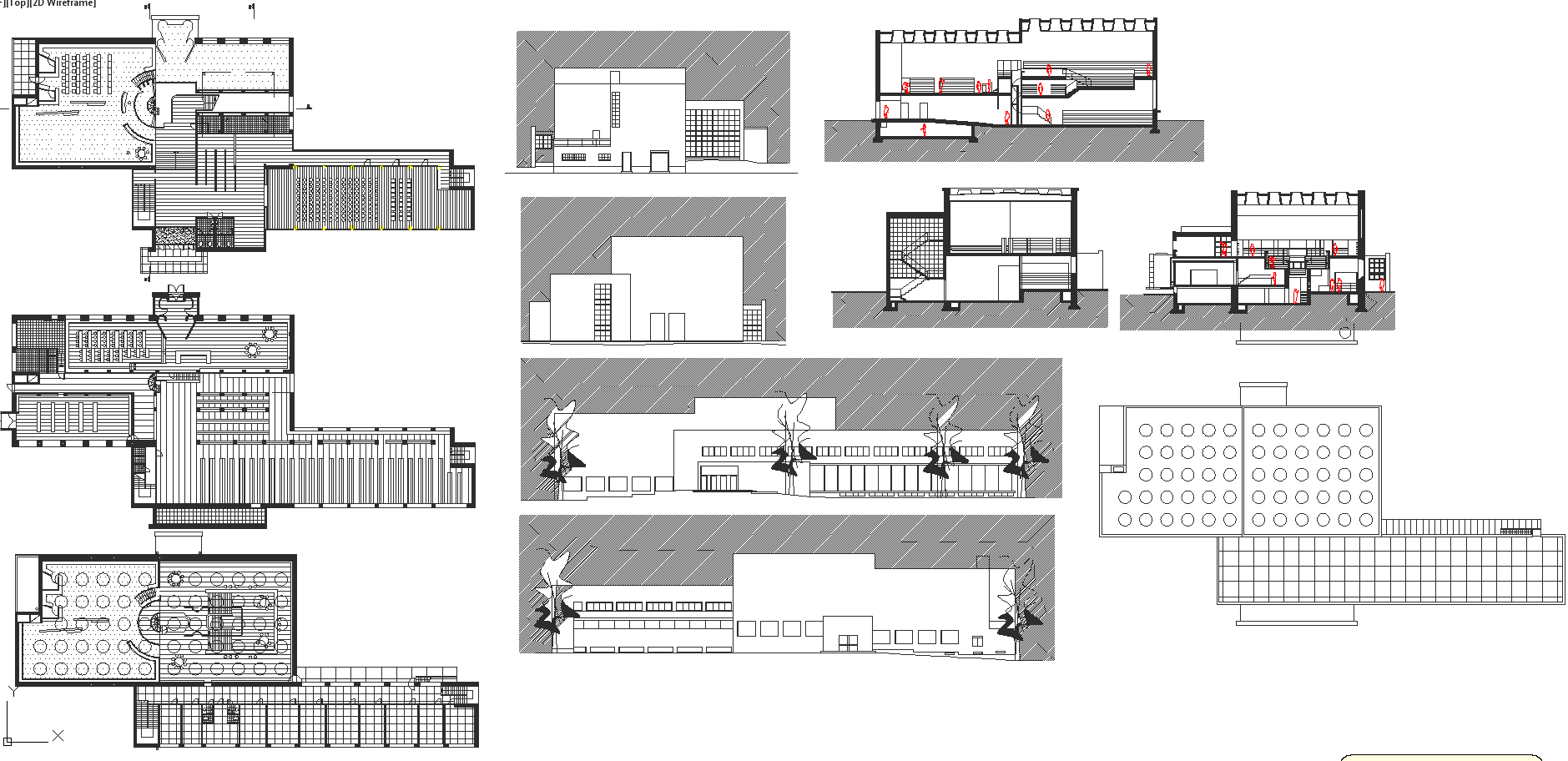 Library Architecture projects detail and design