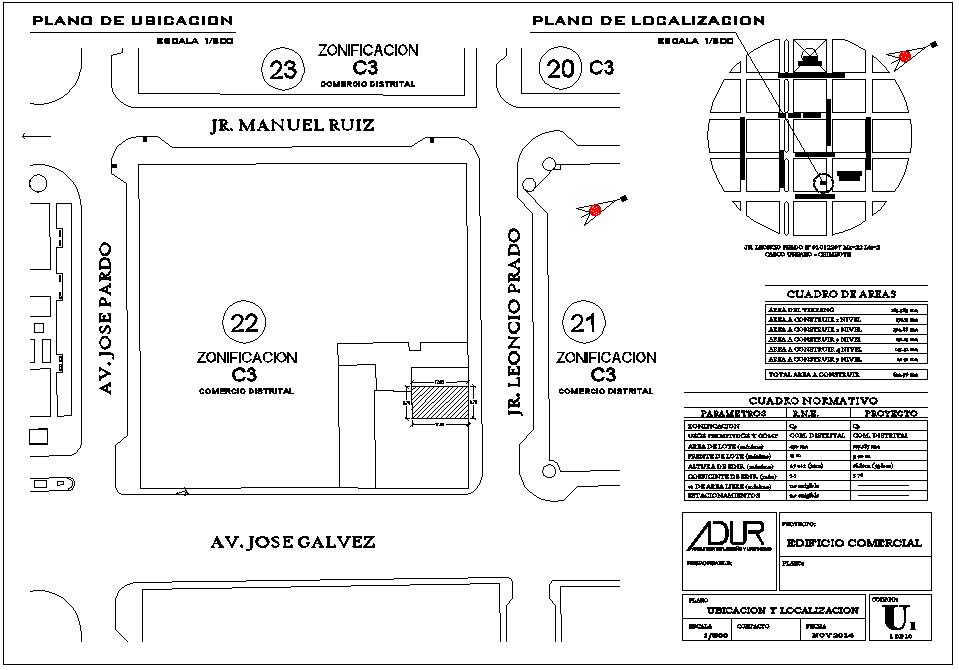 Location site plan detail autocad file