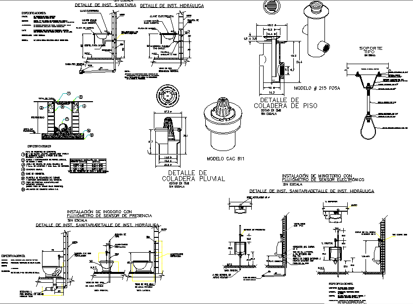Machinery detail sectional details
