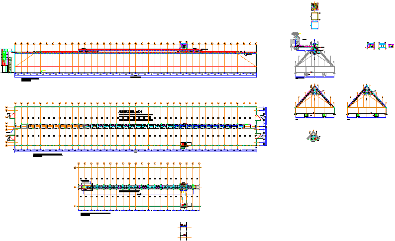 Machinery details with elevations