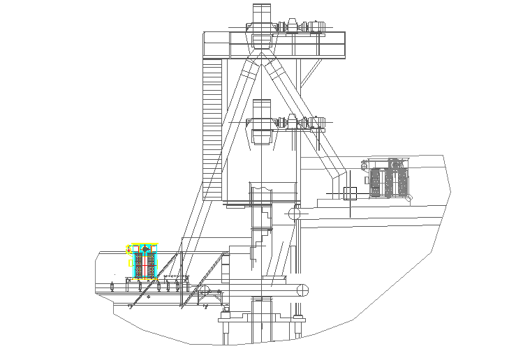 Machinery plan with elevations