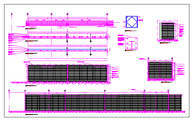 Main access gate details of private house garden dwg file