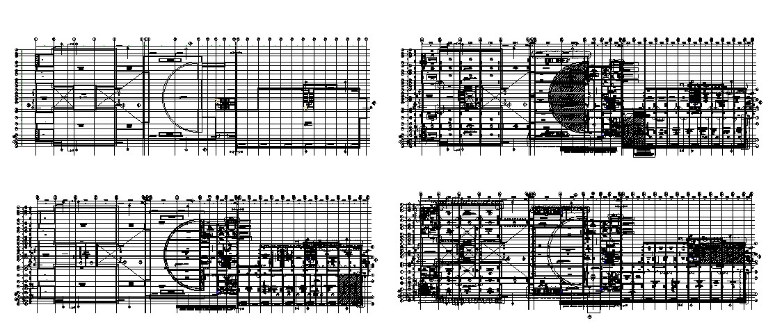 Mansarovar depo administrative building floor plan cad drawing details dwg file