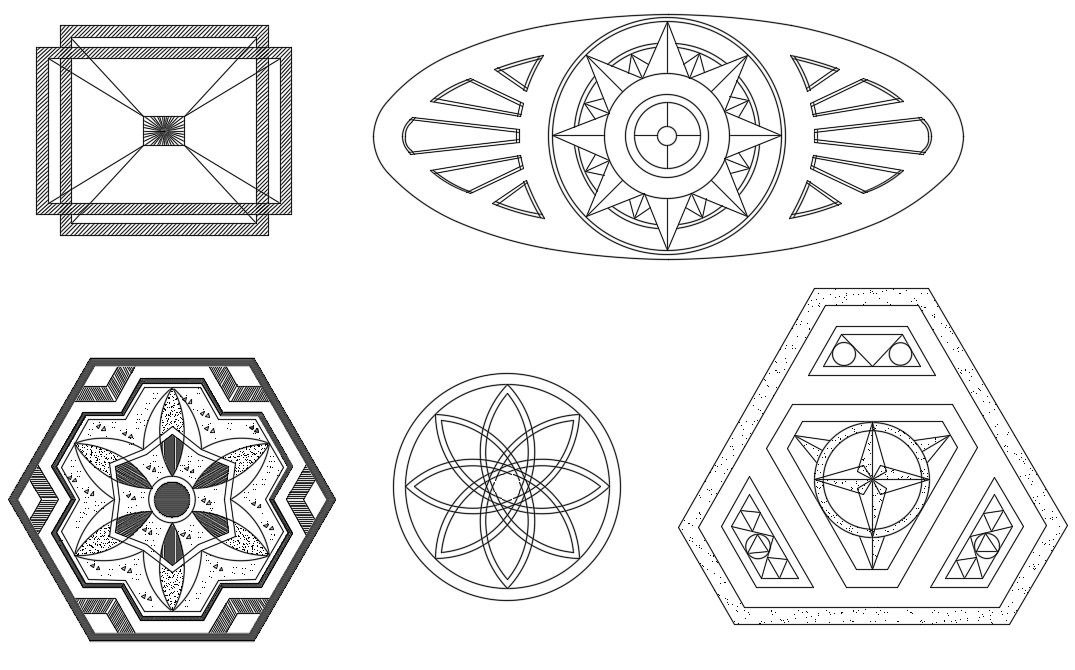 Marble Mosaic Designs CAD File