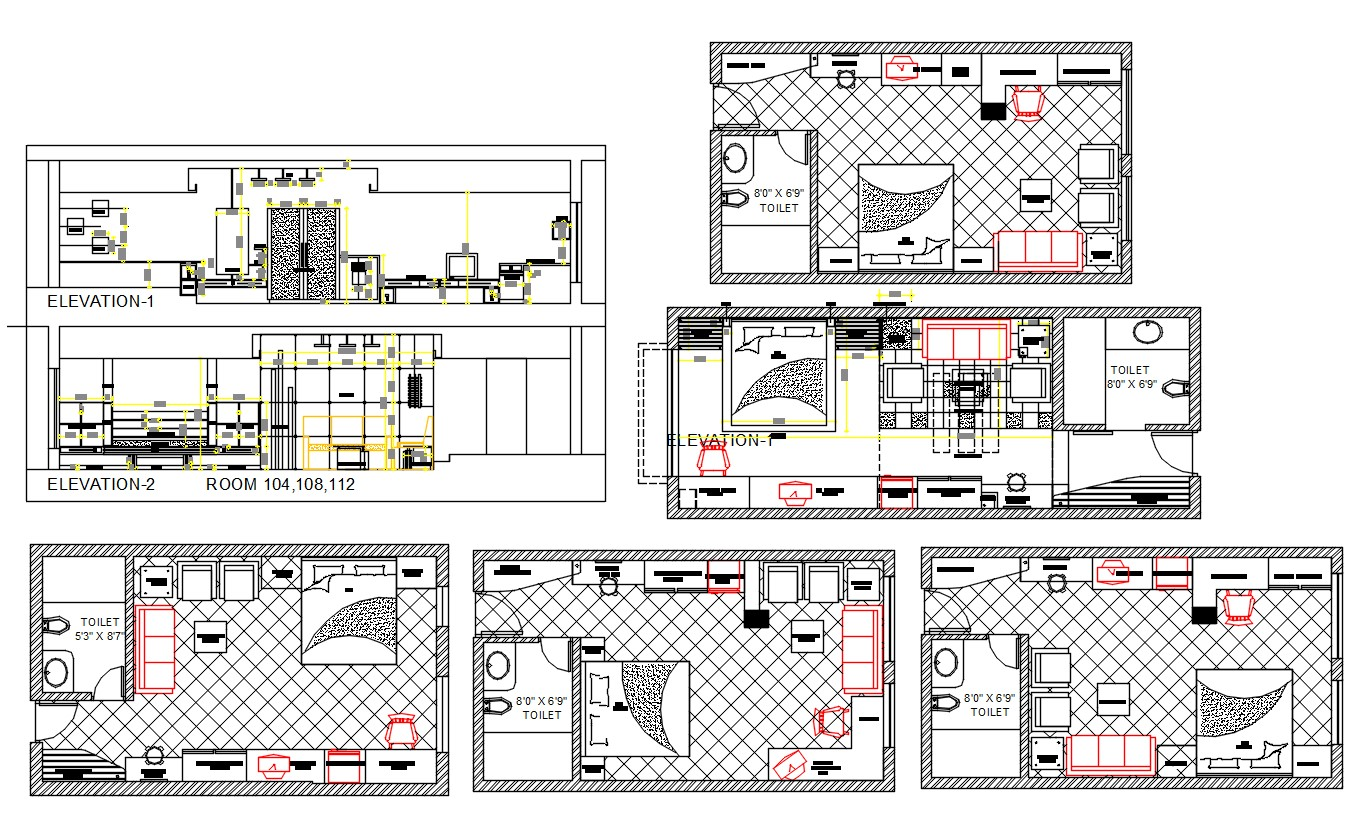 Master Bathroom Project DWG File