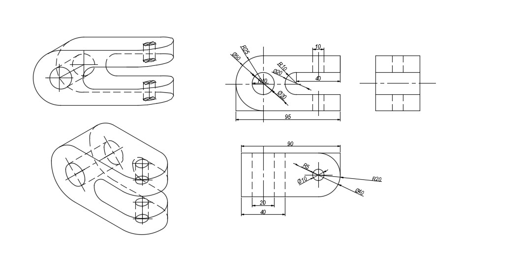 Mechanical Cad Blocks In AutoCAD Drawing