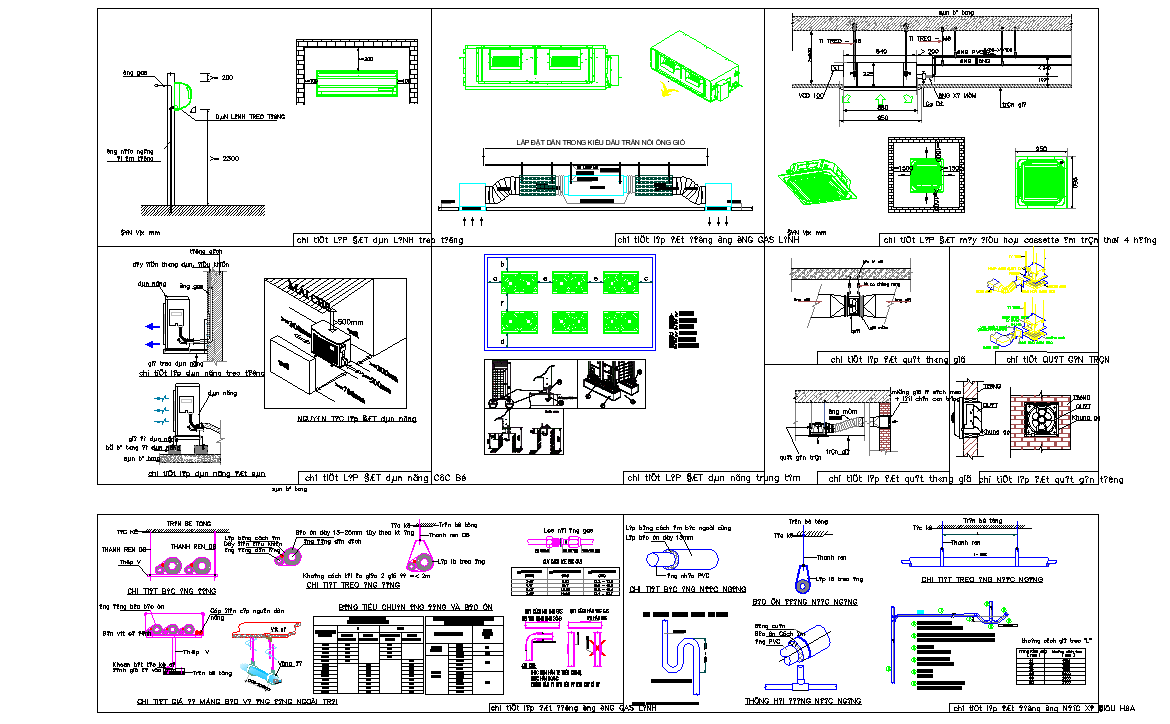 Mechanical parts and units detail view dwg file