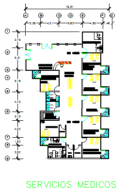 Medical Services layout of Executive project prevention clinic health design drawing