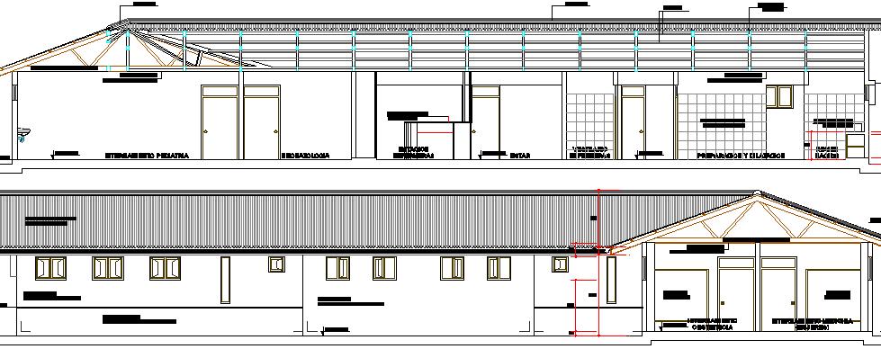 Medical hospital Elevation and Structure Design dwg file