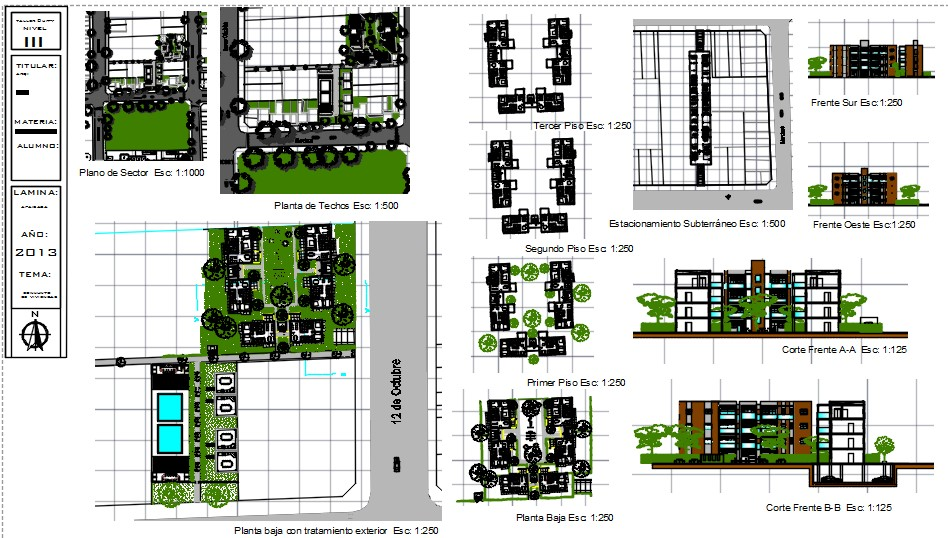 Medium density housing complex 3 floors