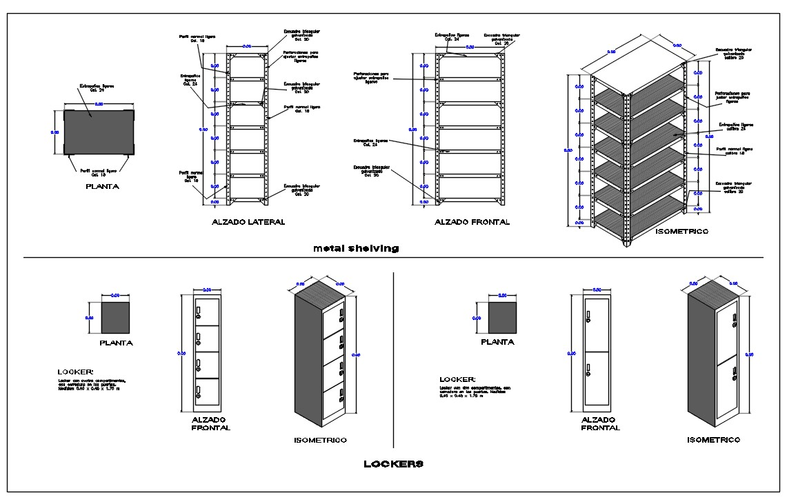 Metal Shelving AutoCAD File