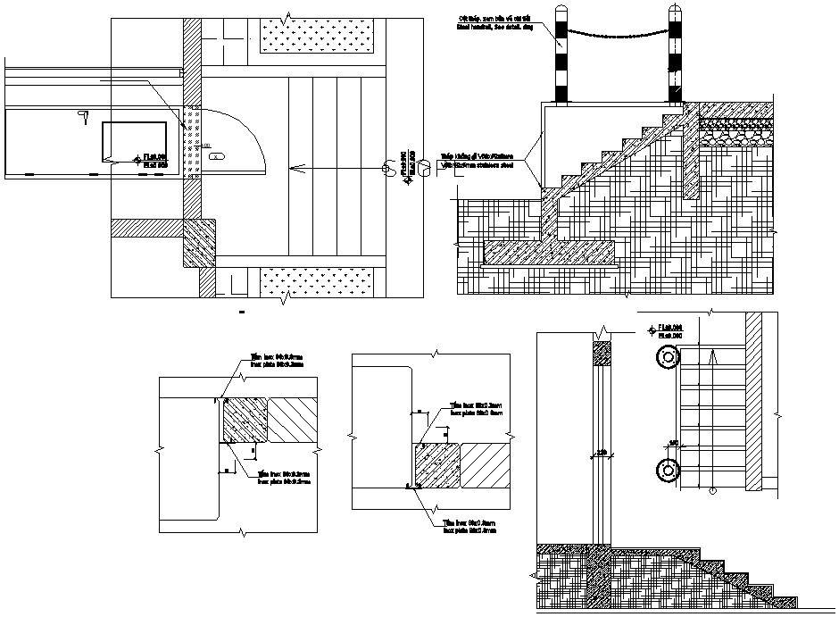 Metal stair design CAD file download