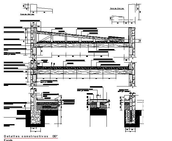 Mezzanine constructive detail