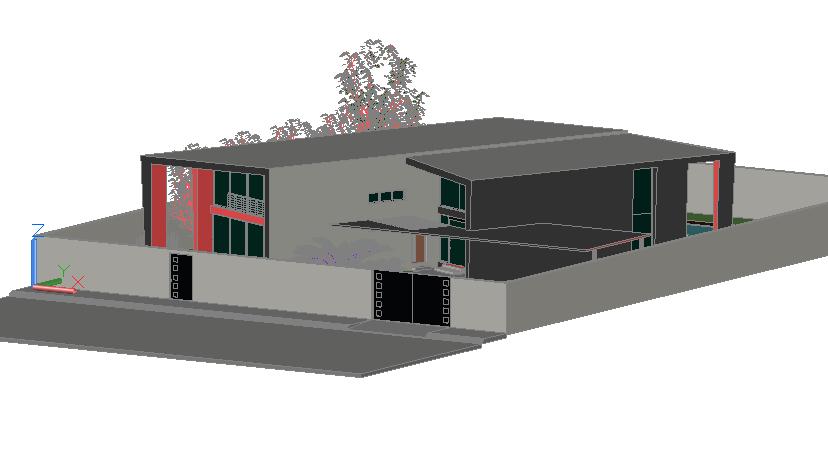 Modern 3 d home detail