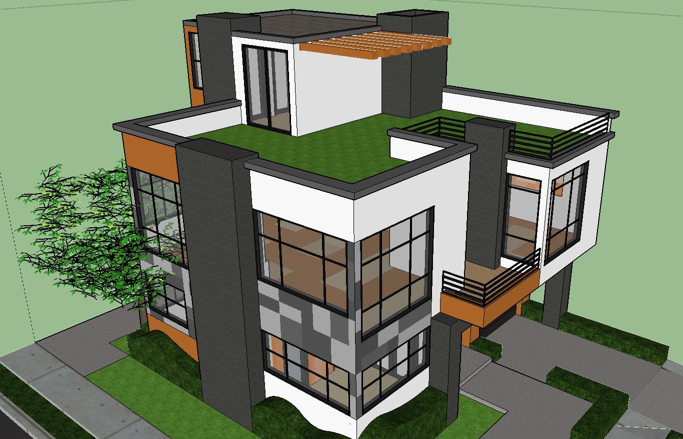 Modern 3D Bungalows Design