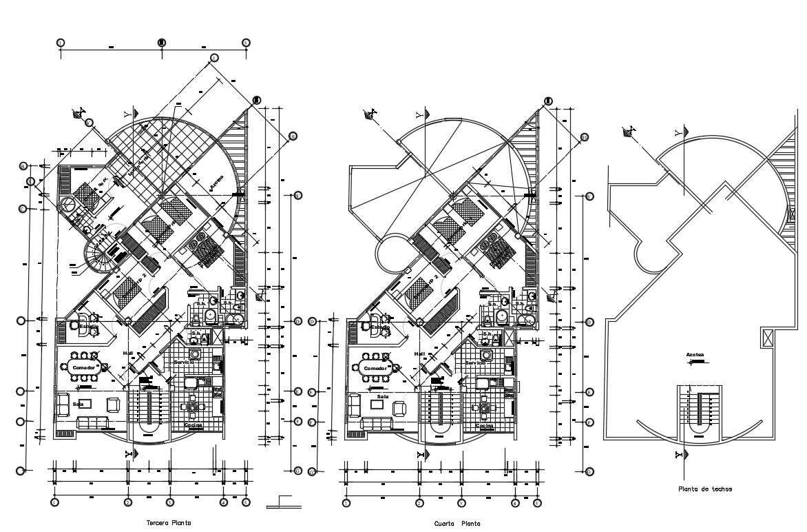 Modern Apartment Building Architecture Plan