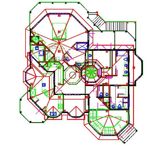 Modern Bungalow Floor Lay-out architectural design