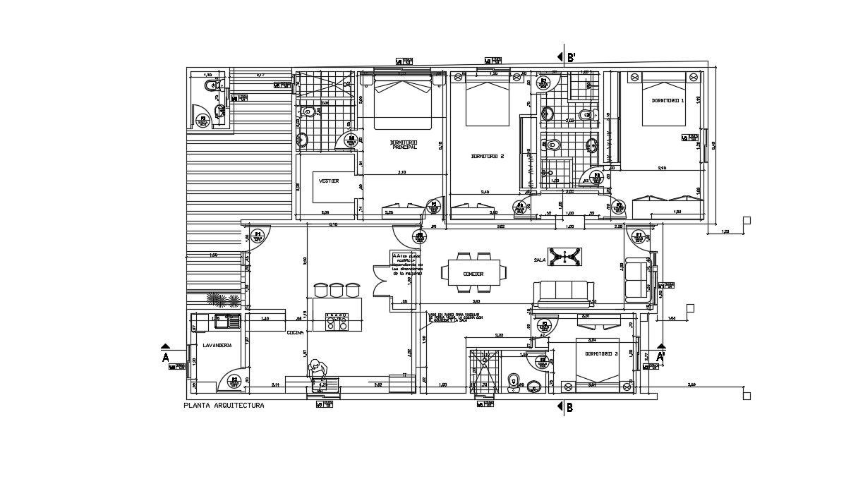Modern Bungalow Floor Plans In AutoCAD File