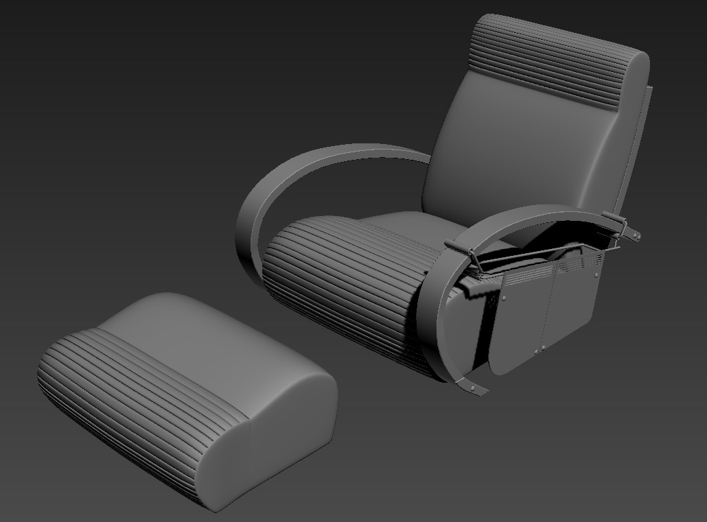 Modern Chair With Foot Rest Download File Free Download
