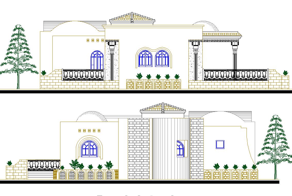 Modern Elevation design of Residence