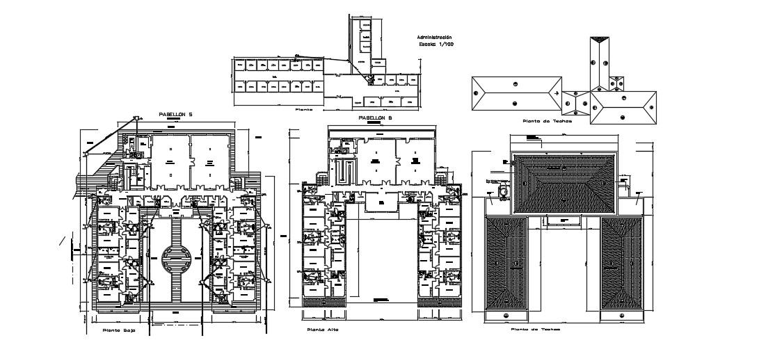 Modern Hospital Floor Plan In DWG File