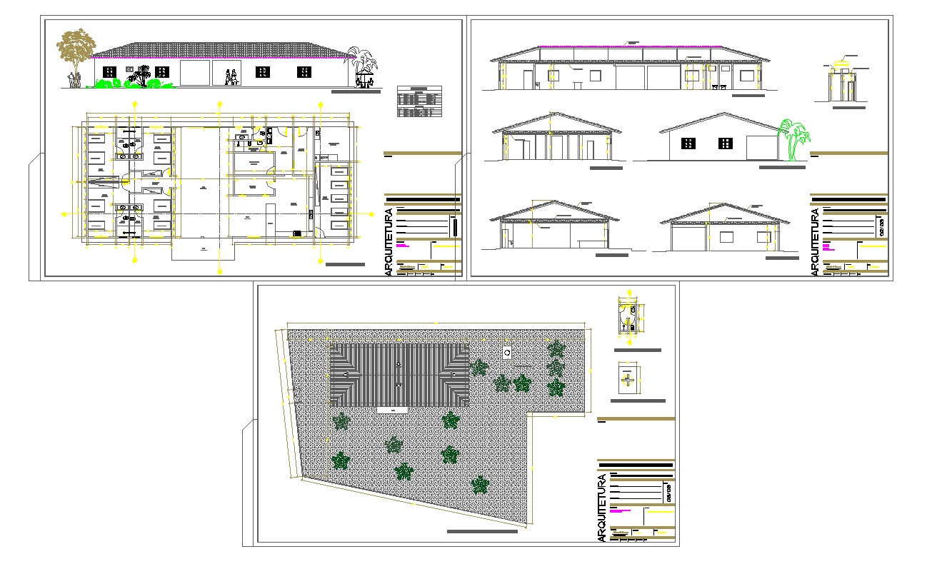 Modern House Detail in DWG File