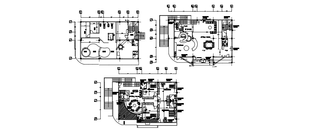 Modern Residence Plan In DWG File