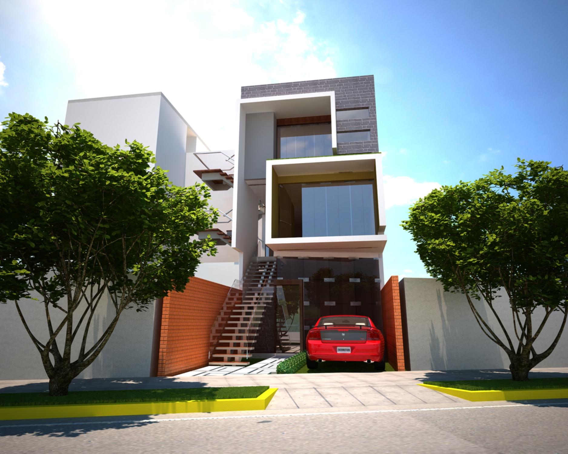 Modern Residence plan project detail