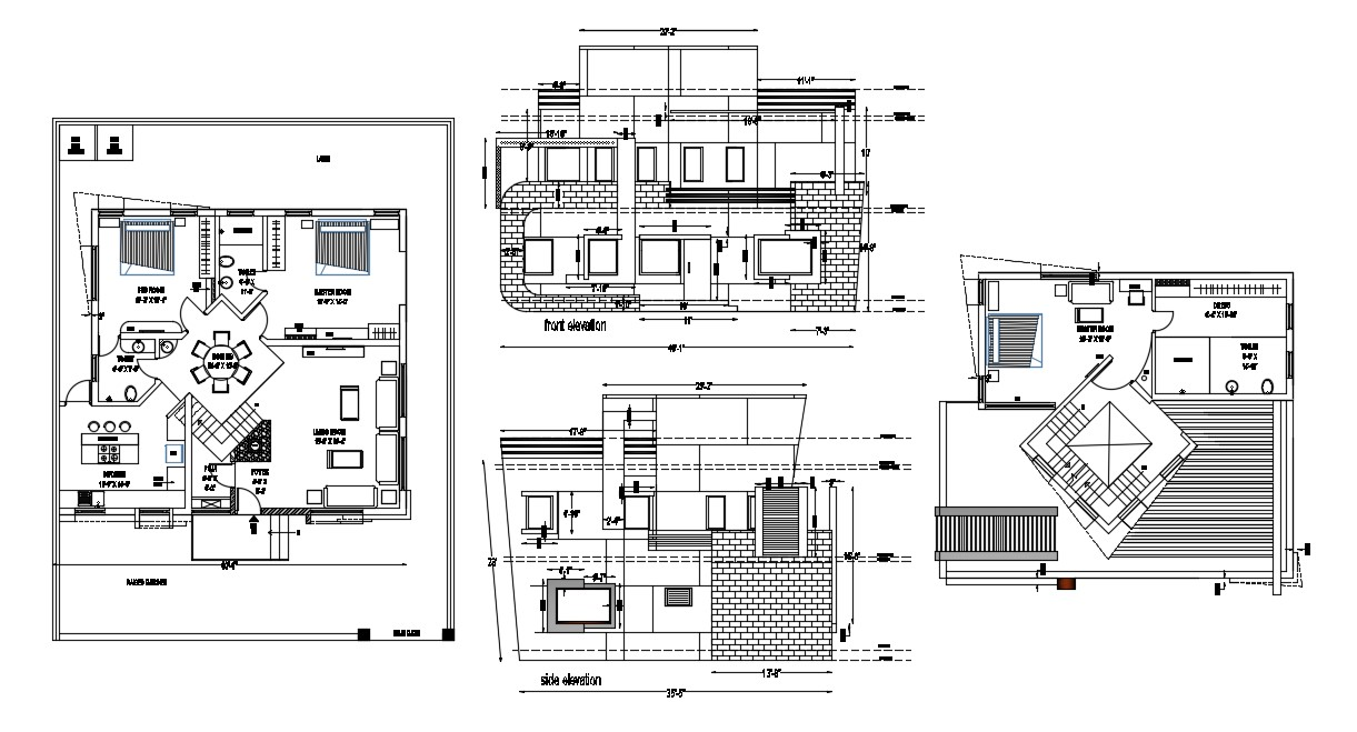 Modern Residential house In CAD Drawing