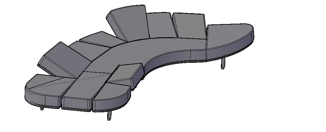 Modern Sofa 3D Model In AutoCAD File