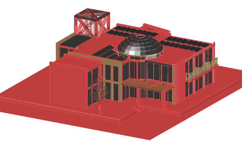 Modern house 3d design view dwg file