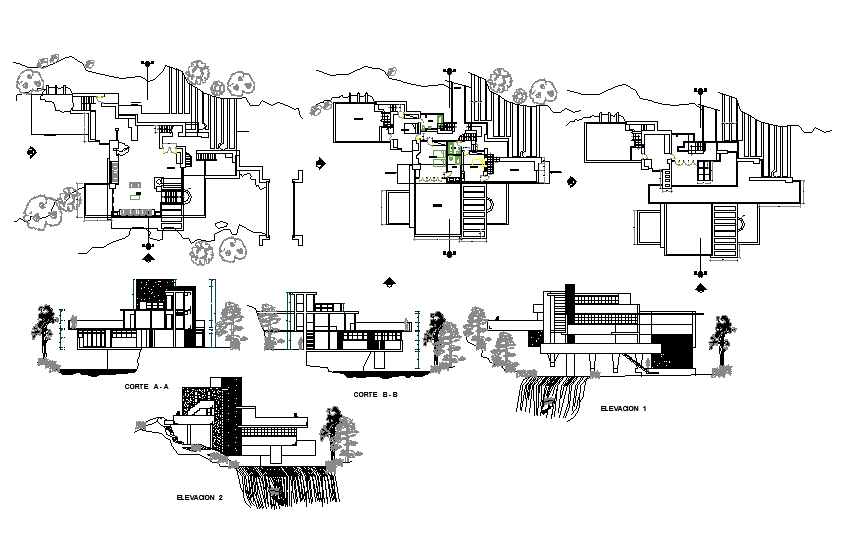 Modern House Architecture Design And Detail In Autocad Files