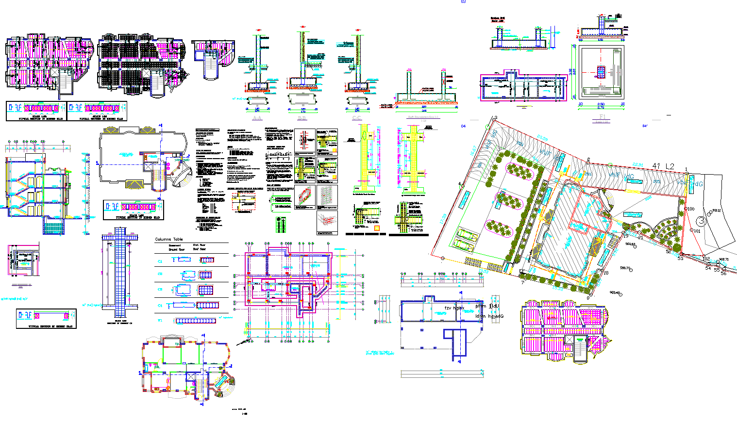 Modern house architecture detail and layout in autocad dwg files