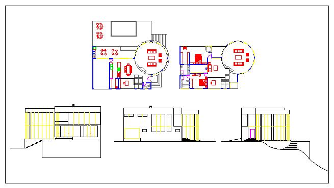 Modern house design drawing