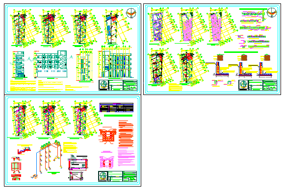 Modern retail spaces local Commercial plaza design drawing