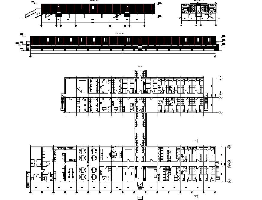 Modular housing layout plan dwg file