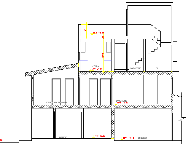 Multi-Architecture of House Design and Structure dwg file