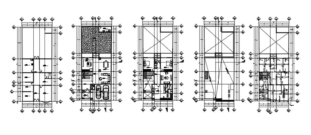 Multi Family Home Design In DWG File