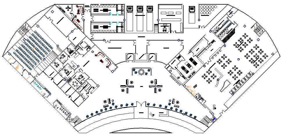 Multi Flooring Hotel Design and Elevation Plan dwg file