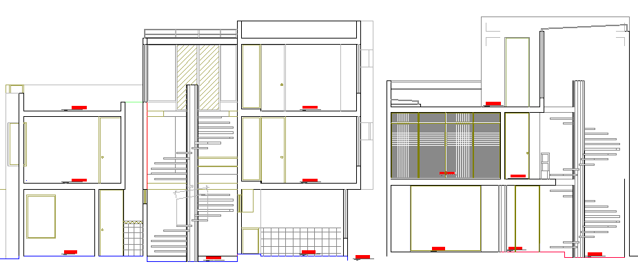Multi-Flooring Housing Design and Elevation dwg file