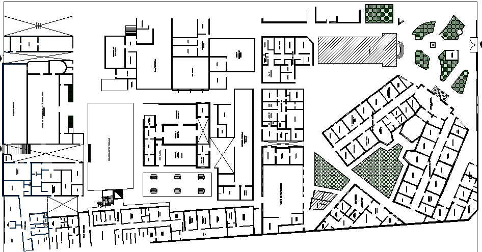 Multi Specialty Hospital Layout dwg file